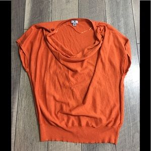 Orange cowl neck sweater. Size XL
